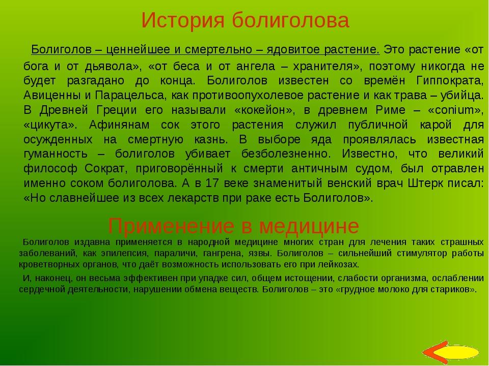 История болиголова Болиголов – ценнейшее и смертельно – ядовитое растение. Эт...