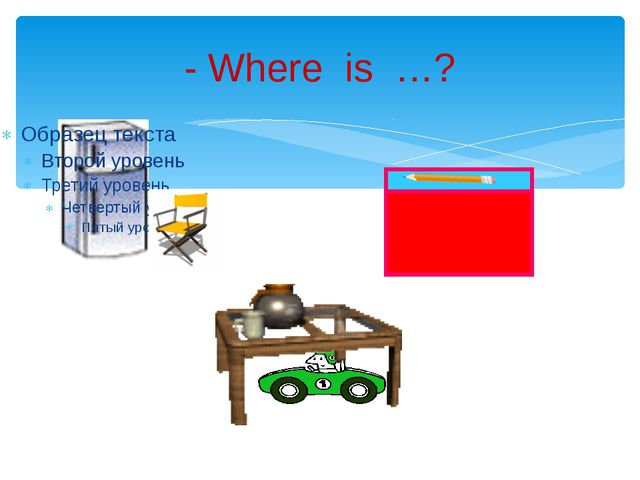 - Where is …?