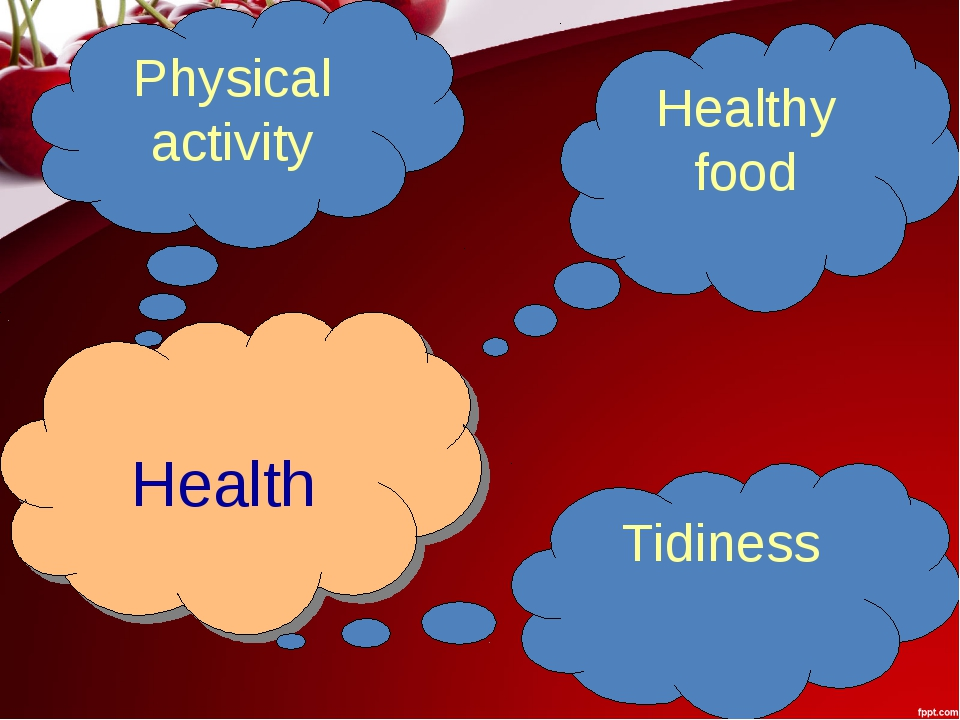 Health Physical activity Healthy food Tidiness