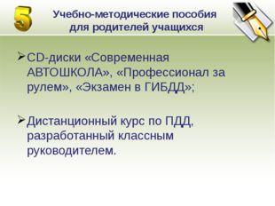 CD-диски «Современная АВТОШКОЛА», «Профессионал за рулем», «Экзамен в ГИБДД»