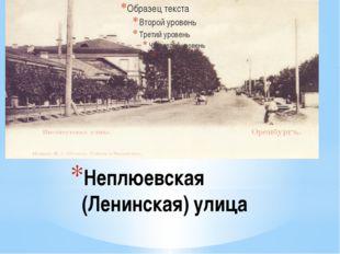 Неплюевская (Ленинская) улица