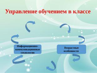 Управление обучением в классе Информационно-коммуникационные технологии Возра