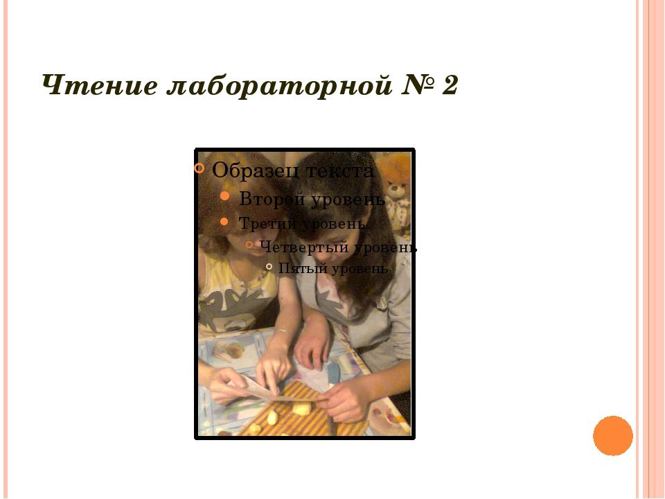 Чтение лабораторной № 2