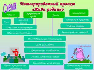 Школа «Экосистема» Экология школы Окружающая среда Практика в экоцентре Школь