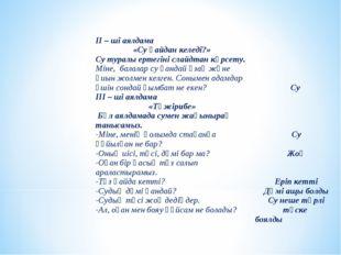 ІІ – ші аялдама «Су қайдан келеді?» Су туралы ертегіні слайдтан көрсету. Мі