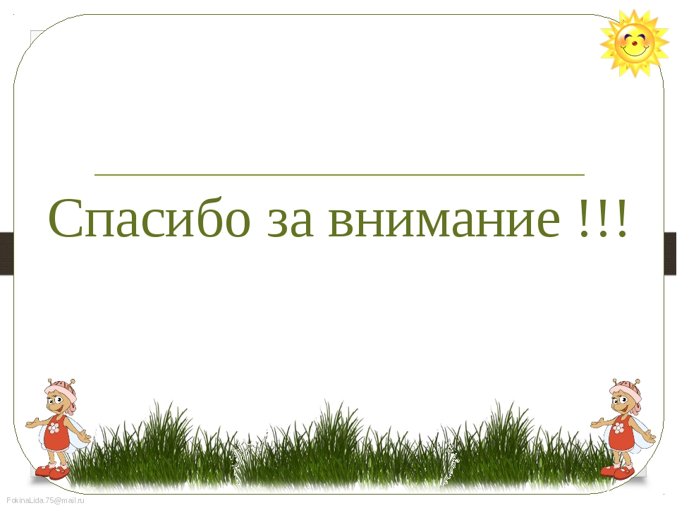 Спасибо за внимание !!! FokinaLida.75@mail.ru