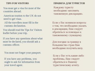 You must get a visa for most of the countries abroad. All the travellers mus
