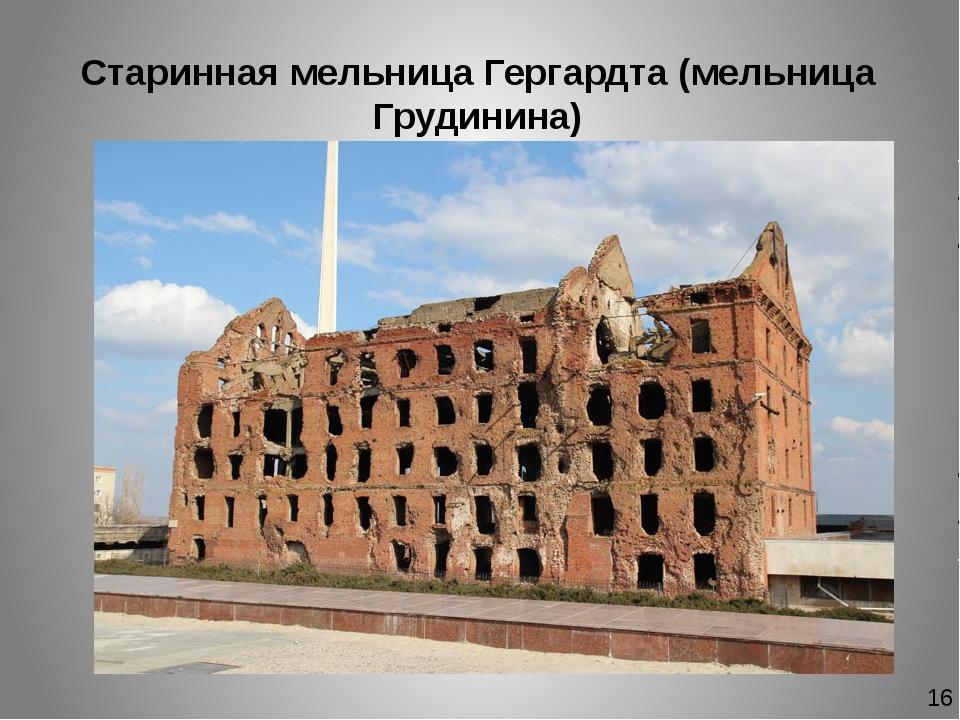 Старинная мельница Гергардта (мельница Грудинина) 16