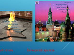 Вечный огонь Вечерний кремль