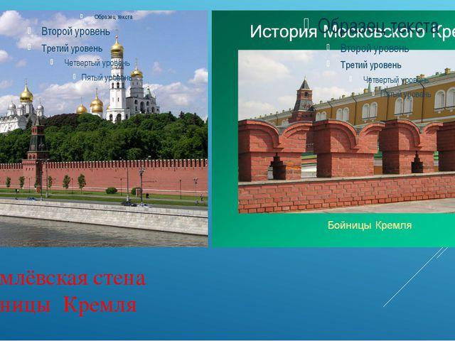 Кремлёвская стена Бойницы Кремля