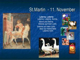 St.Martin - 11. November Laterne, Laterne Laterne, Laterne, Sonne, Mond und S