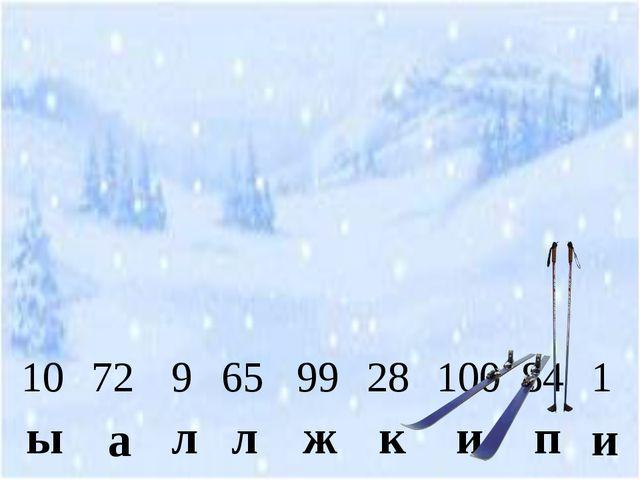 10 ы 72 а 1 и 9 л 65 л 99 ж 28 к 100 и 84 п