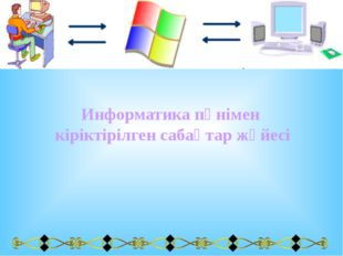 Информатика пәнімен кіріктірілген сабақтар жүйесі
