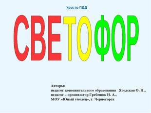 Авторы: педагог дополнительного образования Ягодская О. Н., педагог – организ