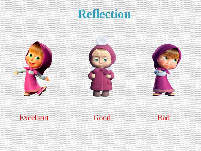 Reflection Excellent Good Bad