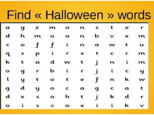 Find «Halloween» words