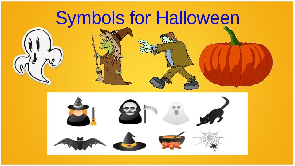 Symbols for Halloween
