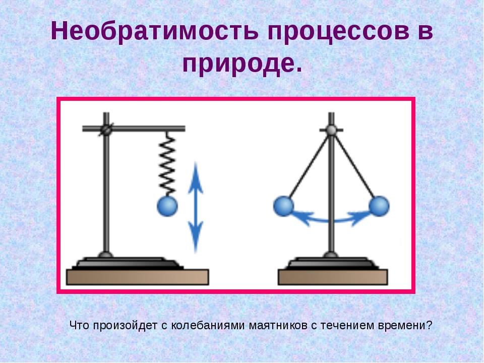 Необратимость процессов в природе. Что произойдет с колебаниями маятников с т...