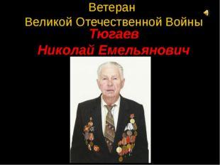 Ветеран Великой Отечественной Войны Тюгаев Николай Емельянович