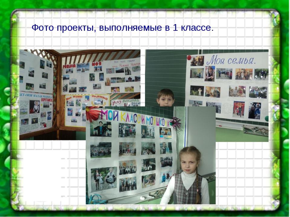 Фото проекты, выполняемые в 1 классе.