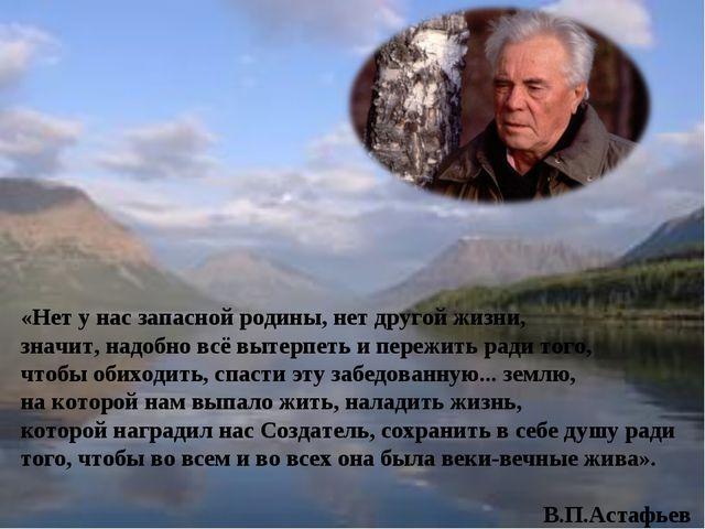 «Нет у нас запасной родины, нет другой жизни, значит, надобно всё вытерпеть...