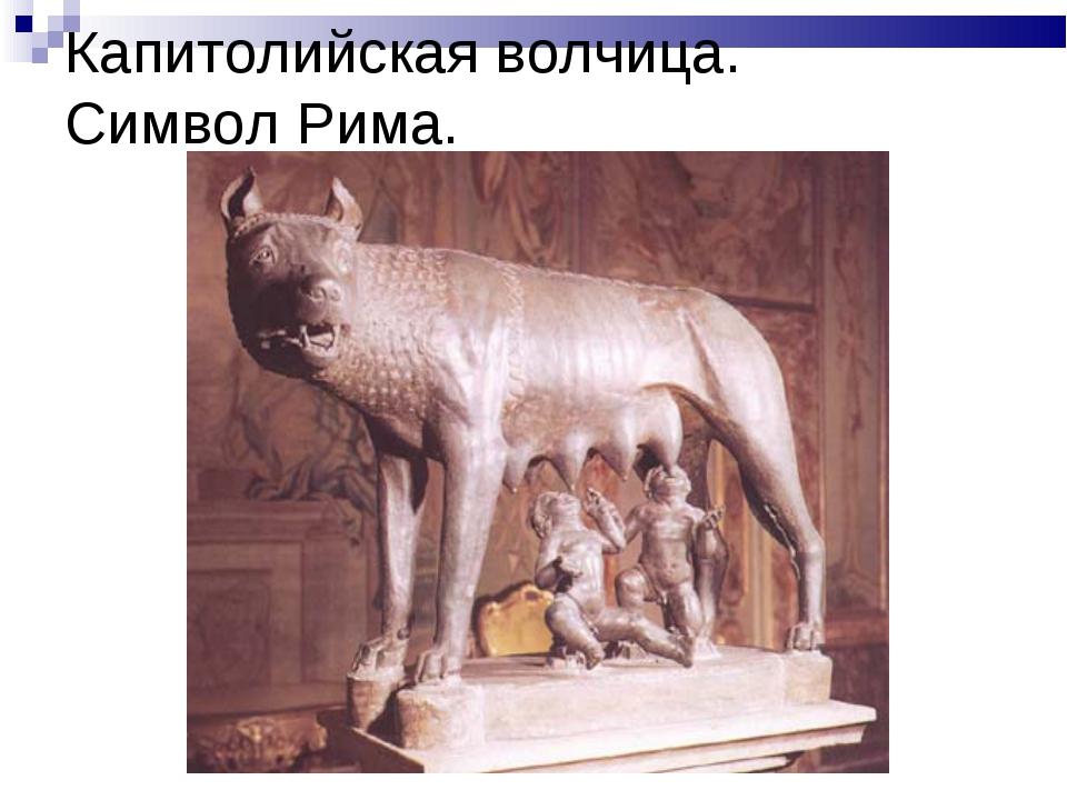 Капитолийская волчица. Символ Рима.