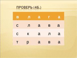 в л а г а с л а в а с к а л а т р а в а