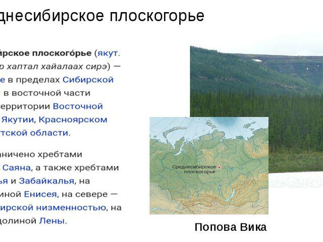 Среднесибирское плоскогорье Попова Вика