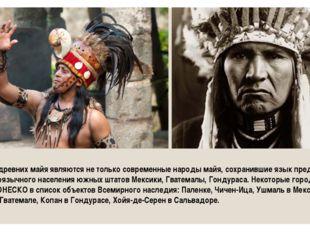 Потомками древних майя являются не только современные народы майя, сохранивши