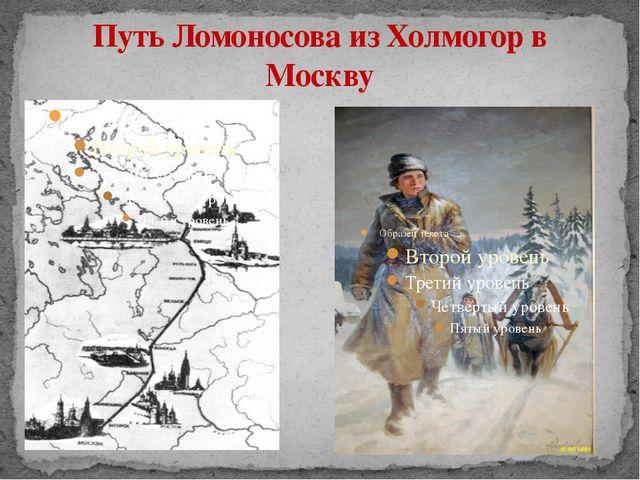 Путь Ломоносова из Холмогор в Москву