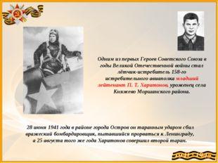 Одним из первых Героев Советского Союза в годы Великой Отечественной войны ст