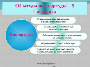 www.themegallery.com Оқушылармен кері байланысты тиімді қамтамасыз ету. Оқушы
