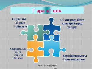 www.themegallery.com Оқушымен бірге критерийлерді талдау Сыныптасын және өзін