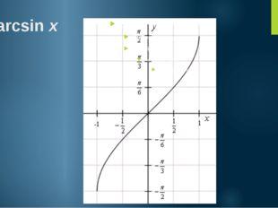 y =arcsinx