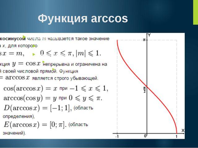 Функция arccos