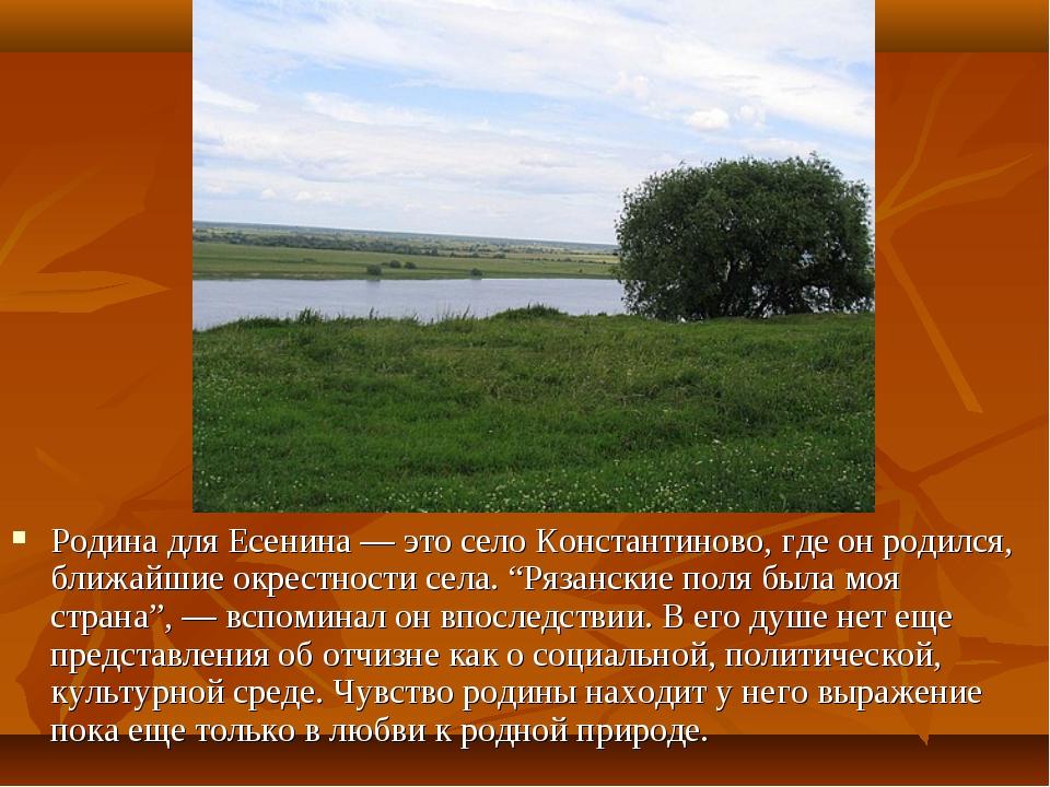 расположена адресу стихи есенина о просторах родине муж