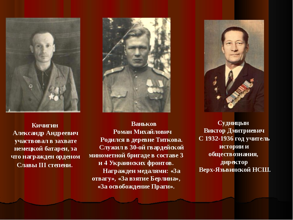 Ваньков Роман Михайлович Родился в деревне Титкова. Служил в 30-ой гвардейск...