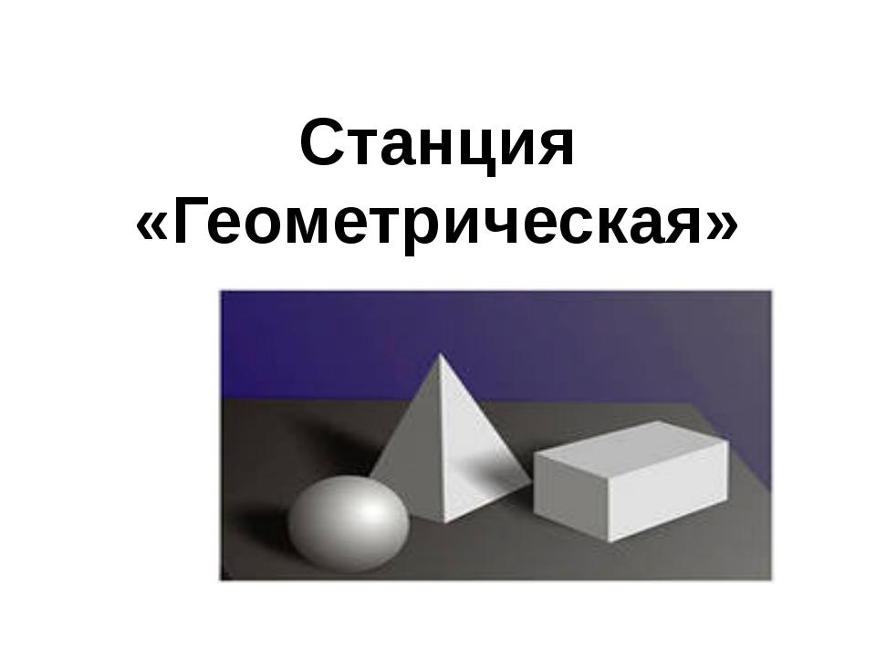Станция «Геометрическая»