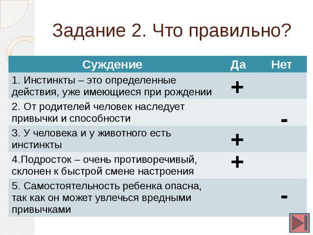 Задание 3. Сходства и отличия В приведенном списке указаны черты сходства чел...