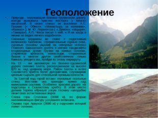 Геоположение Природа , окружающая Военно–грузинскую дорогу, всегда вызывала ч