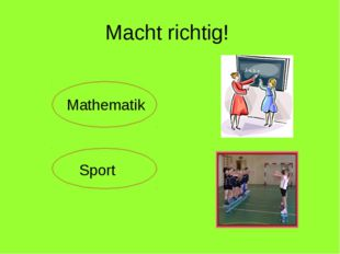 Macht richtig! Mathematik Sport
