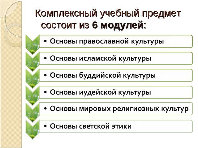 Комплексный учебный предмет состоит из 6 модулей: