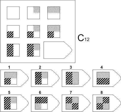 прогрессивные матрицы Равена, серия C, карточка 12