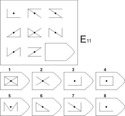 прогрессивные матрицы Равена, серия E, карточка 11