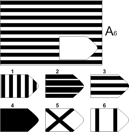 прогрессивные матрицы Равена, серия А, карточка 6