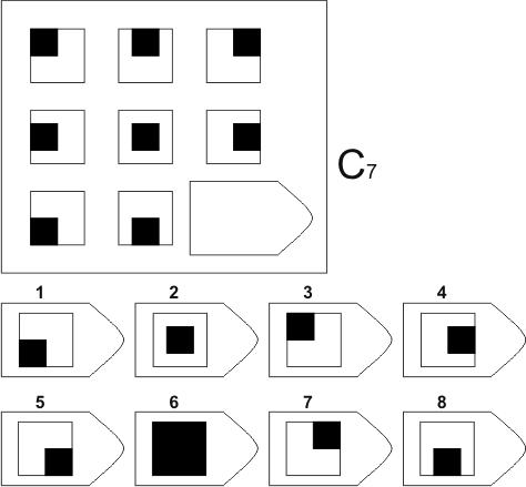 прогрессивные матрицы Равена, серия C, карточка 7