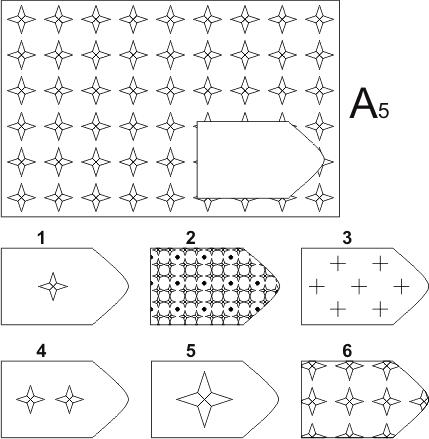 прогрессивные матрицы Равена, серия А, карточка 5