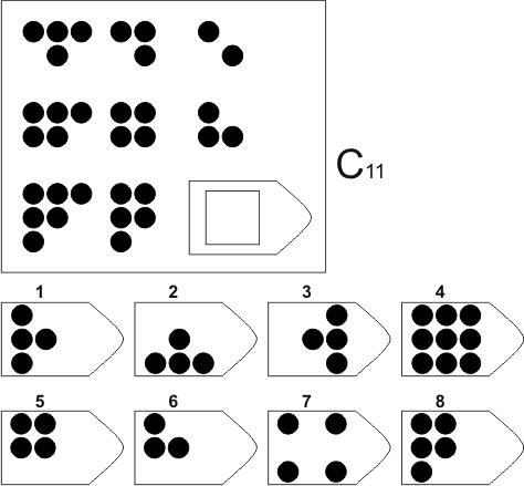 прогрессивные матрицы Равена, серия C, карточка 11