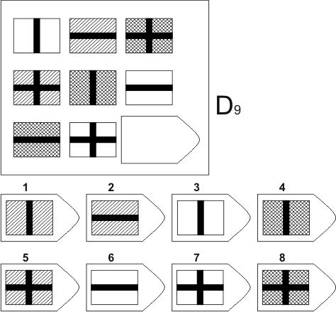 прогрессивные матрицы Равена, серия D, карточка 9