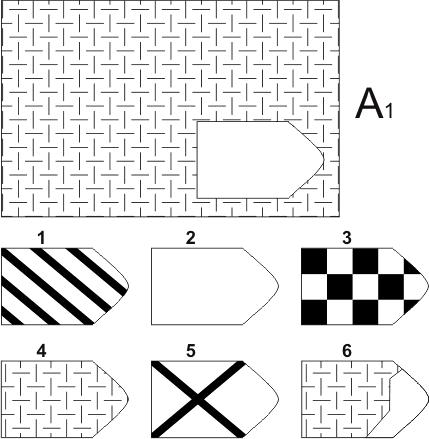 прогрессивные матрицы Равена, серия А, карточка 1